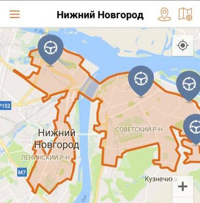 Зона парковки в Нижнем Новгороде