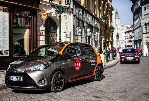 Toyota Yaris компании Anytime в Праге