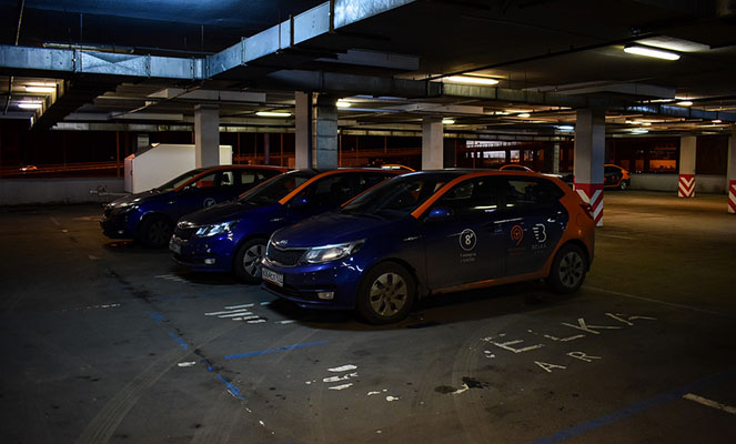 Паркинг автомобилей