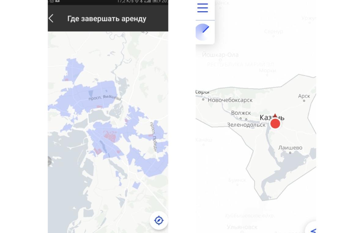 Зона покрытия в Казани