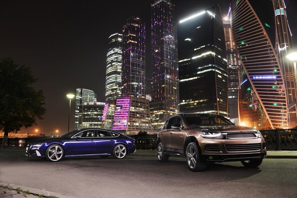 Автомобили на фоне Москва сити